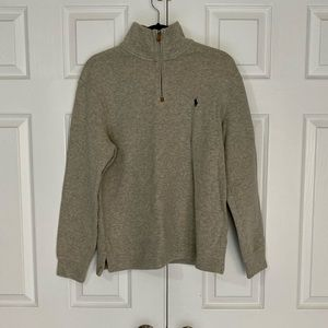 Polo Ralph Lauren Tan/Gray Sweater Pullover